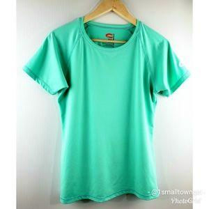 O'rageous Rash Guard Short Sleeve Aqua Green XL